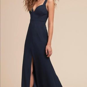 Navy Blue BHLDN Ansel Dress